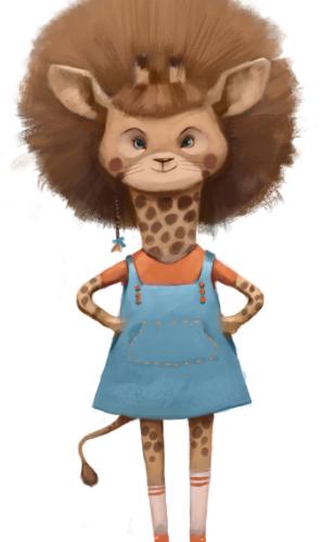 """Nicole"", by Dr. Jungmiwha Bullock, Author, Am I Half Giraffe?"